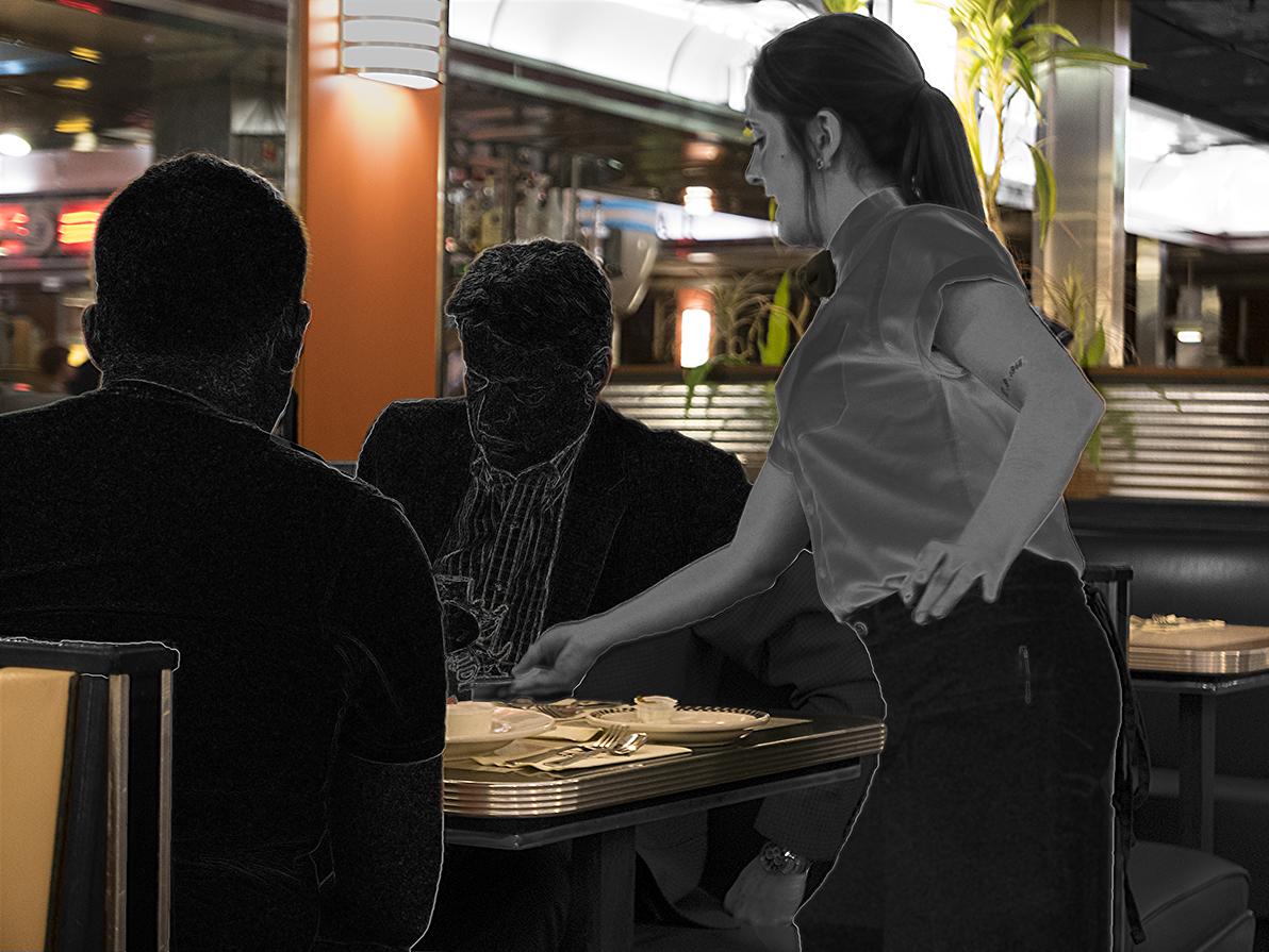 Arlene Becker_Guys Eating Out Thinking In.jpg