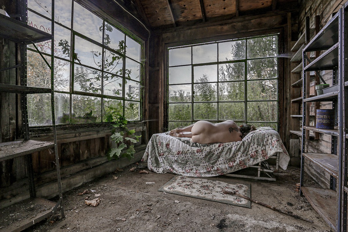 Sarah Bloom_Self Abandoned_Down in a garden old with years.jpg