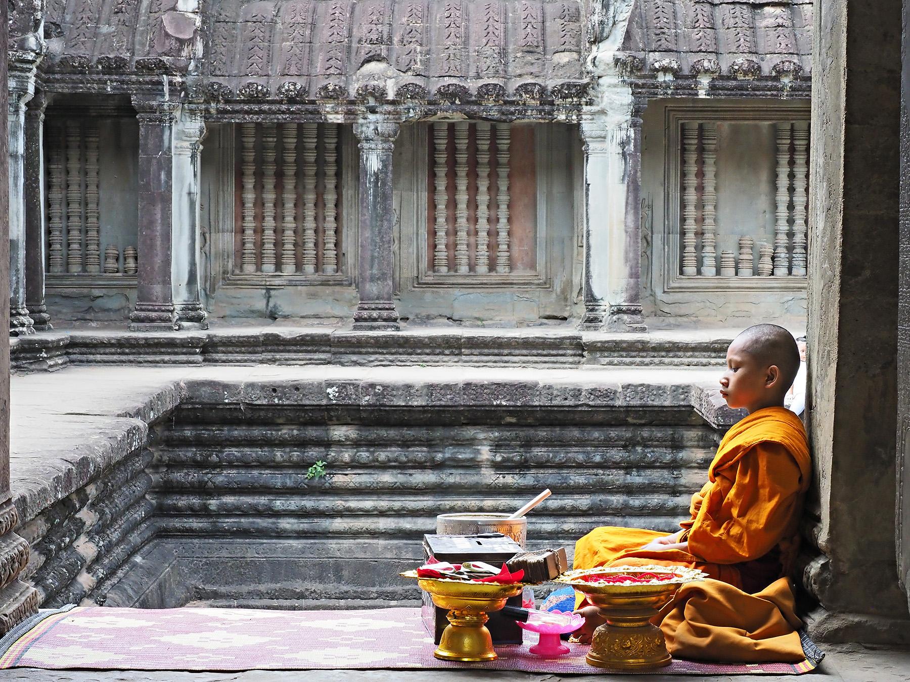 Ranjan-ramchandani_A novice monk at Angkorvat.jpg
