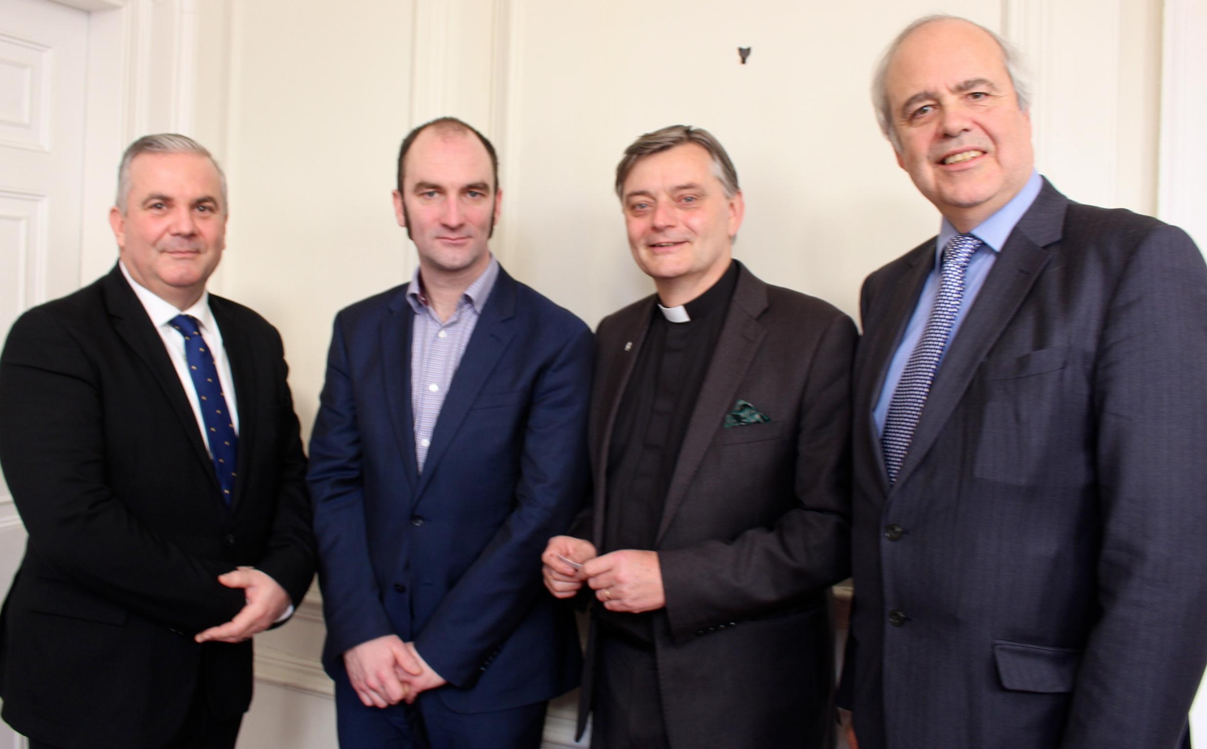 Photo caption: Changing North Kent – (from left) David Ward, Matthew Norwell, Philip Hesketh (Dean of Rochester) and Gordon Pratt