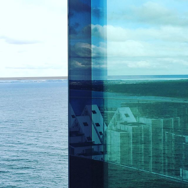 On top of Aarhus Ø #aarhusø#aarhus#view#mirror#reflection#aarhusbugt#glass#fieldtrip