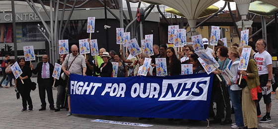 Health-workers and patients have been fighting to save the NHS in the face of government cuts and privatisation, including these campaigners in east London from the Save our Surgeries group.