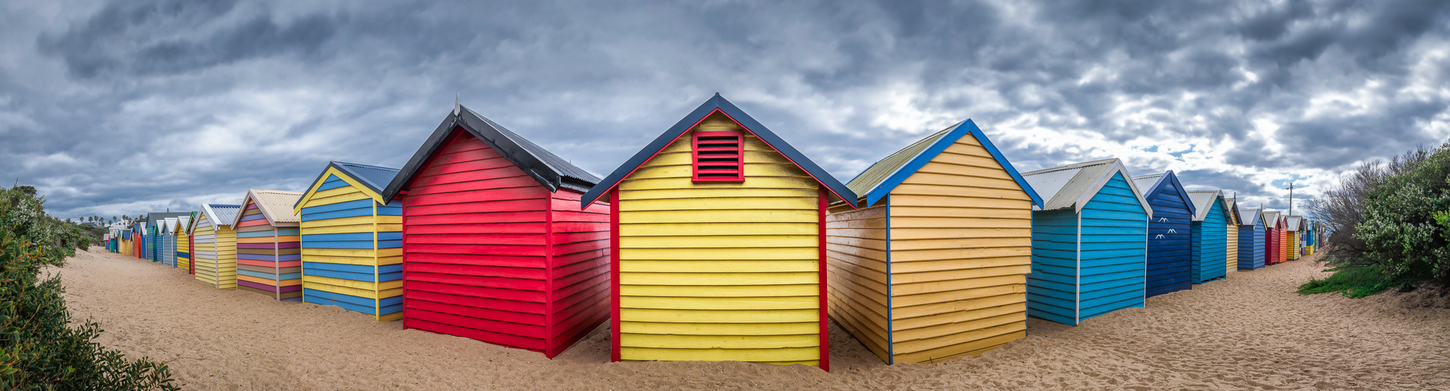 Brighton Beach Bathing Boxes (Victoria, Australia) - Photo by Paul Tadday