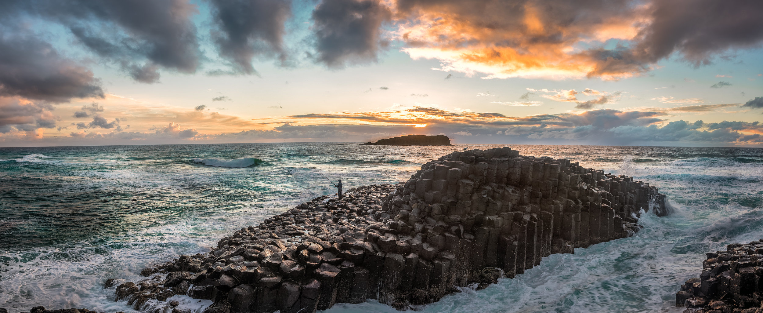 Sunrise over the Giant's Causeway at Fingal Head, New South Wales, Australia - Photo by Paul Tadday