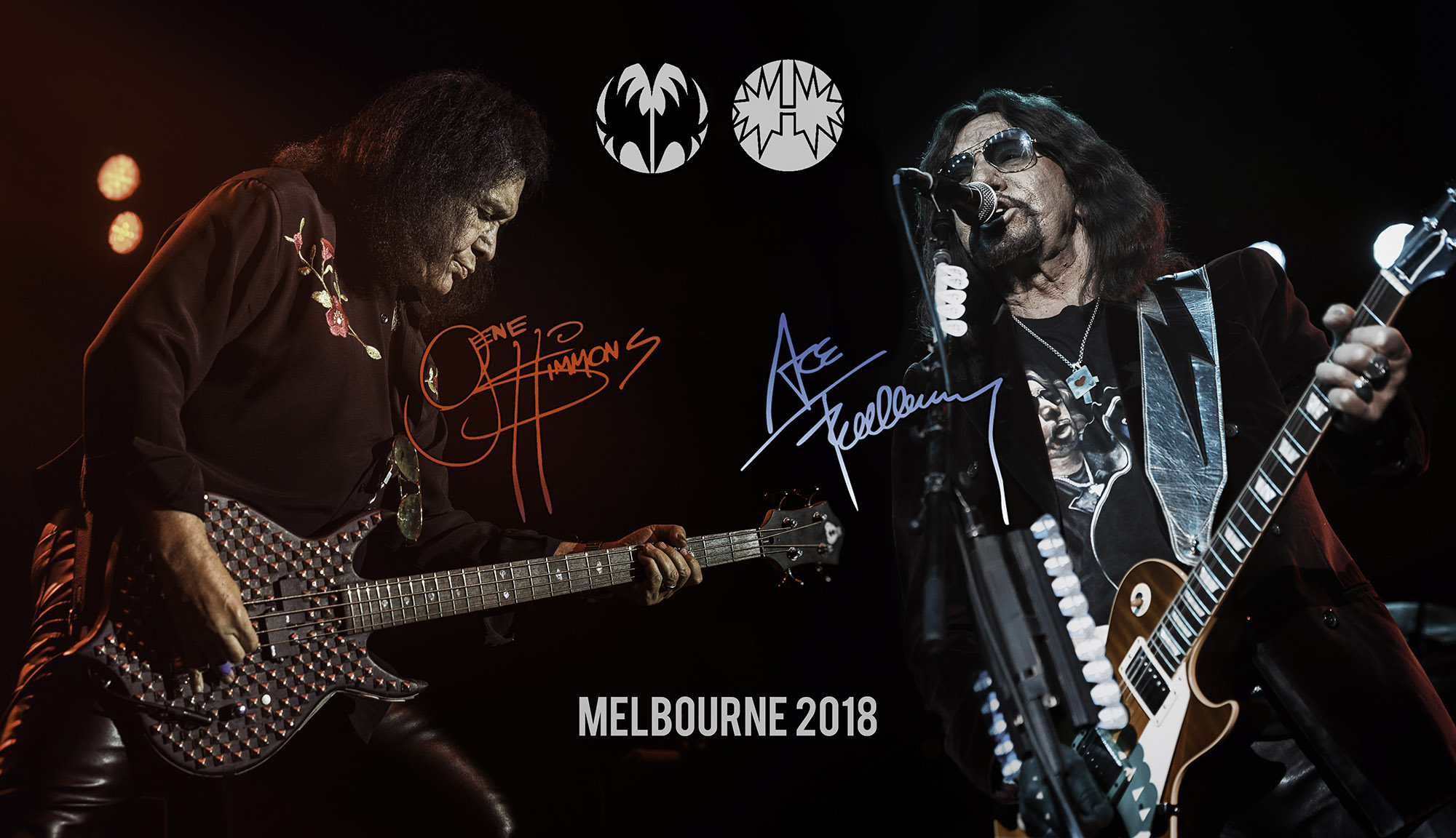 GENE SIMMONS with ACE FREHLEY  - Live in Melbourne - 30/8/18