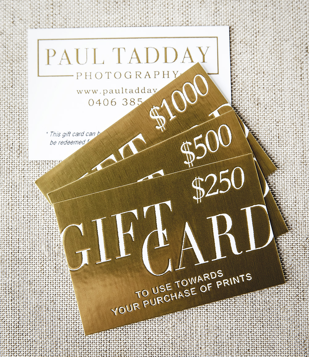 Paul Tadday Photography - Buy Gift Cards
