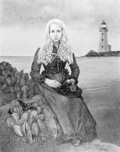 Evening Awakening - SOLD   2014, pencil on Bristol paper, Image size: 25 x 19 inches