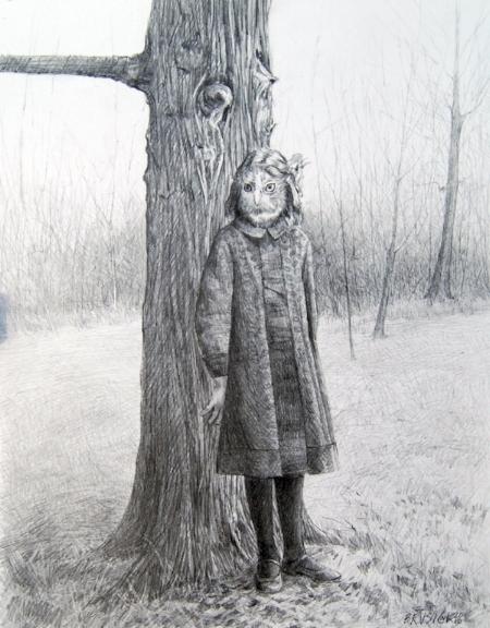 Edith   2010, graphite on Bristol paper, Image size: 12.50 x 9.50 inches