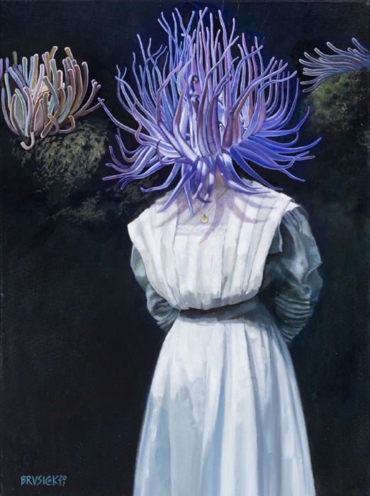 Lady in Waiting - SOLD   2011, Oil on Canvas, 24 x 18 inches