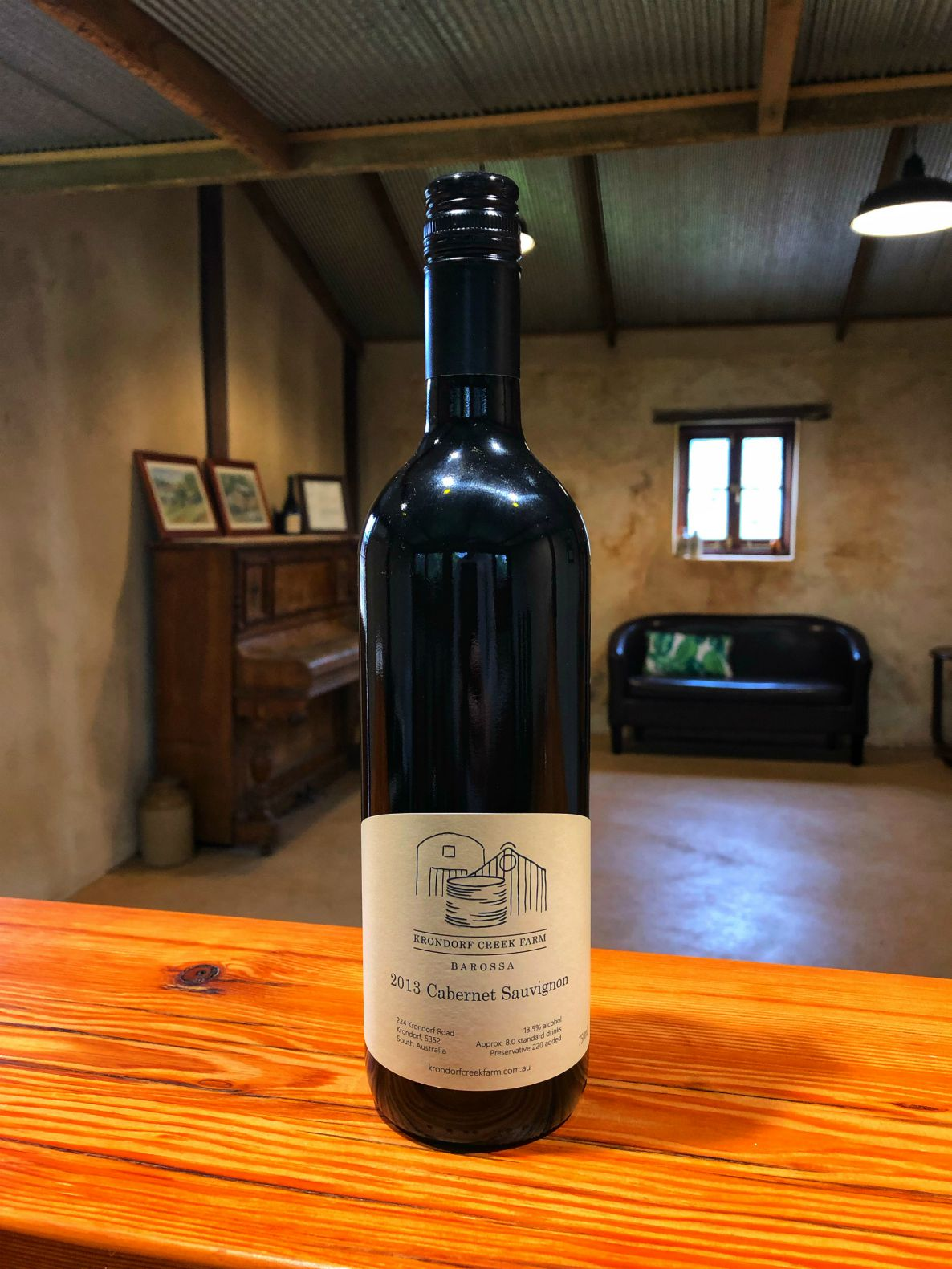 Our Museum Release - One of the hallmarks of Krondorf Creek Farm is that quite some years before we opened Cellar Door, we started putting wine away in our Cellar, with a view to one day having a perpetual collection of aged wines we could release to our guests and customers.Every year since 2012 we've made a parcel or two of fruit into a special wine, and then tucked it away in the old butcher's cellar that sits underneath one of the stone cottages on the property.From this treasure box Cellar, each year we have the particular pleasure of pulling up a bottle of every wine we've ever made and having a gander. Some trusted friends and family get an invitation, there's usually some pizza and it's a great night of reflection, albeit with a serious side. This is when we decide which wine will be labelled as our Museum Release for the coming year and available to our guests through Cellar Door.This year we are delighted to introduce our 2013 Cabernet Sauvignon as our Museum Release. It's a wonderful testament to the old adage that