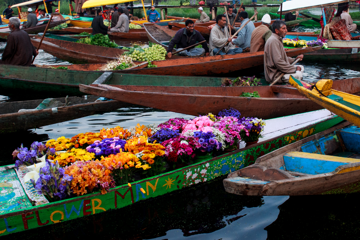 Among the vegetable sellers are the flower guys. Floriculture is a huge industry in Kashmir.