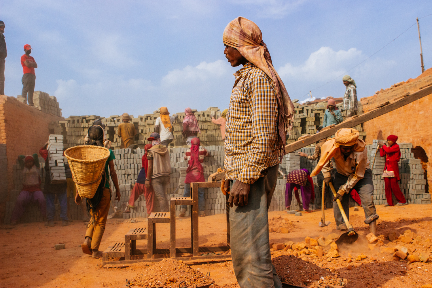 Brick making, Nepal