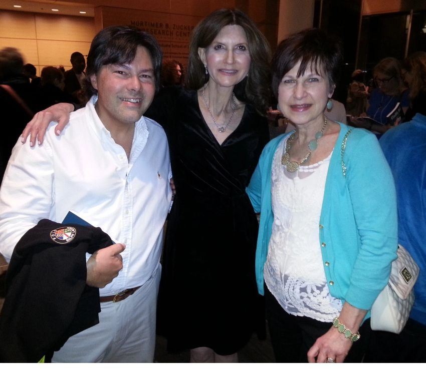 "Paul Edelman, Davina Klatsky,and Cathy Pipcho at Memorial Sloan Kettering Cancer Center ""Visible Ink"" Reading"