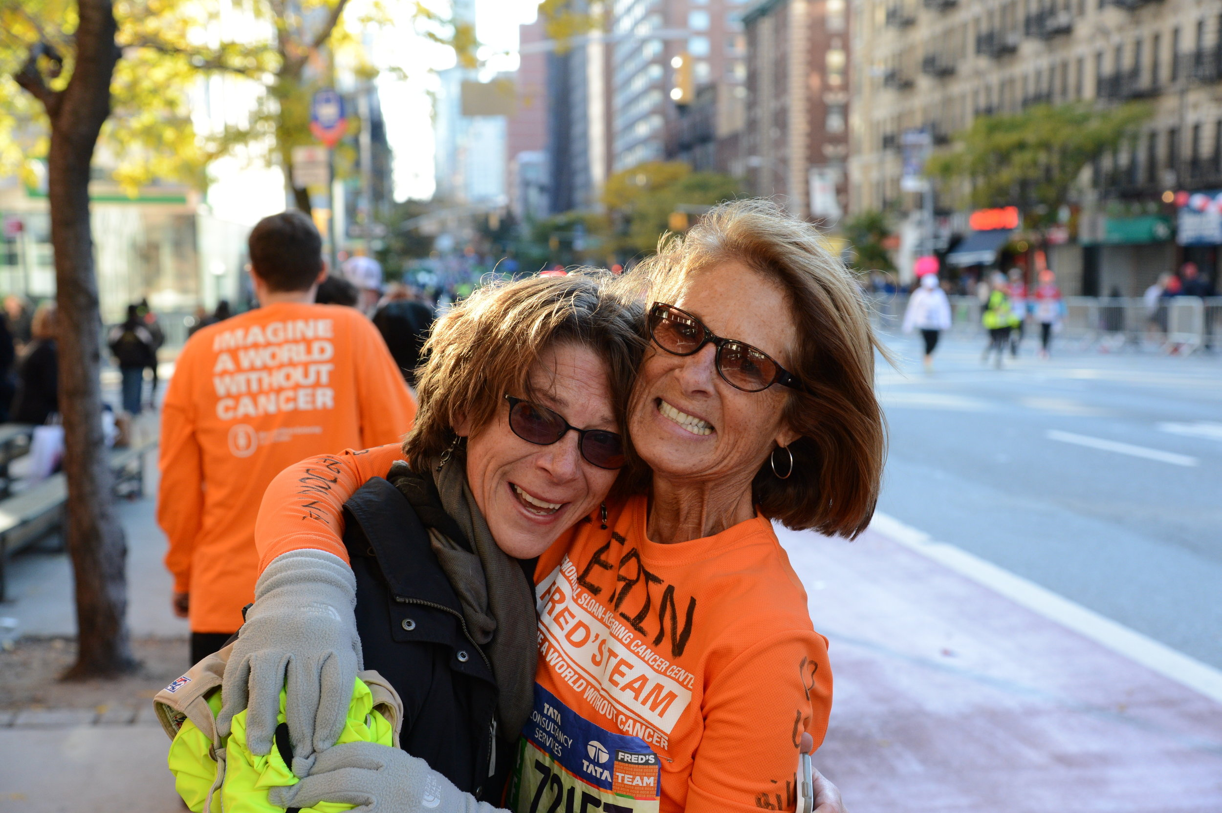 Karla Guererri and Erin Geddis Cummings, NYC Marathon- November 7, 2016
