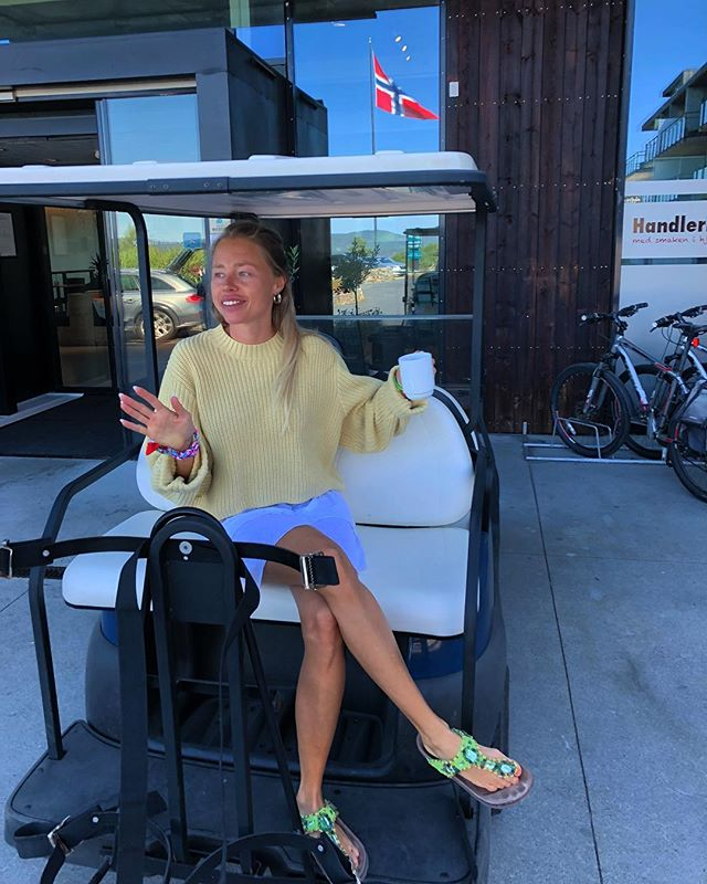 Tok golfbilen en tur til Kragerø 😎🤷♀️🚜 #summer #weekend