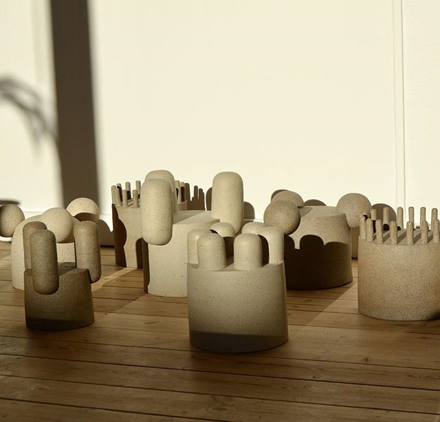 🏰🌅 #ceramics #pots #upsidedown #sun #light #keramik #kunstgørenforskel