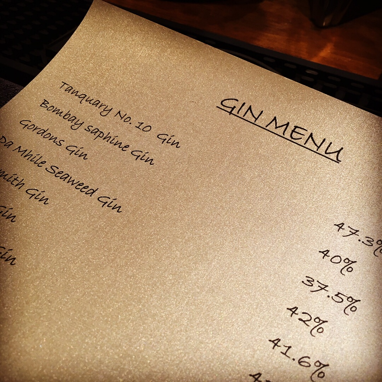 - The biggest news of the month was the announcement that our neighbour and local pub - The Old Ship - introduced their new 'Gin Menu'.They now have a selection of over 30 gins from around the world, and Jasmine has volunteered to test each one on their behalf...