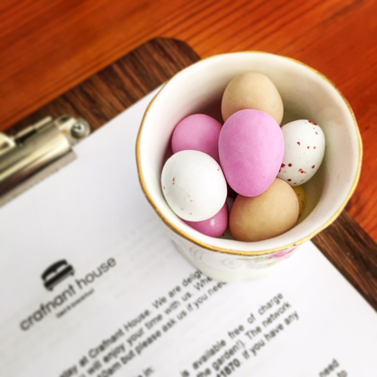 - Easter came and went in a busy blur of lovely guests, mixed weather and too much chocolate! Mini-eggs were left in the guest rooms :-)