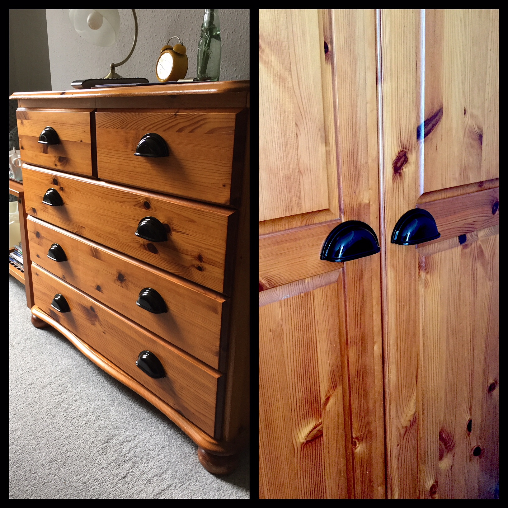 - ... and given the bedroom furniture a little facelift with the replacement of all the wooden knobs.