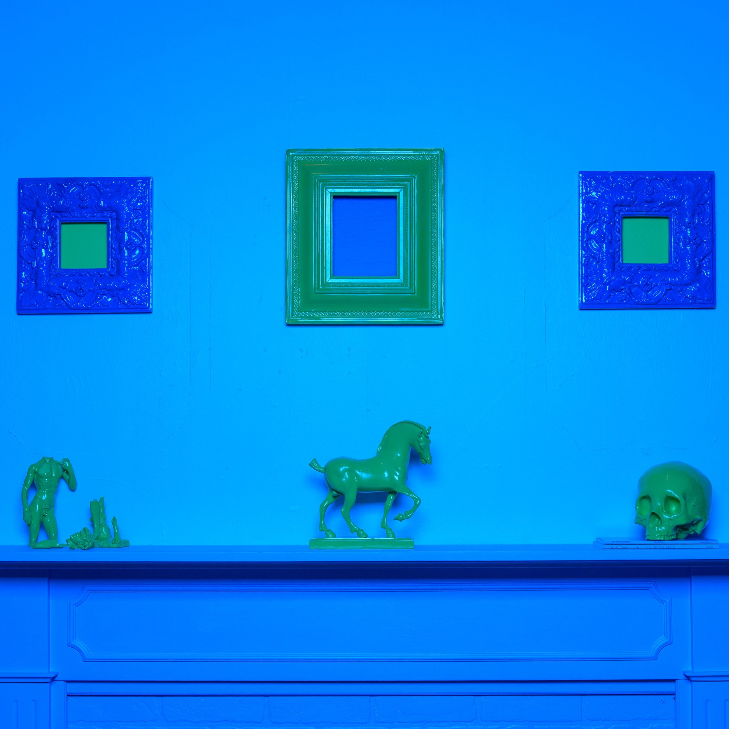The Blue Room  (detail)  2018  mixed media installation