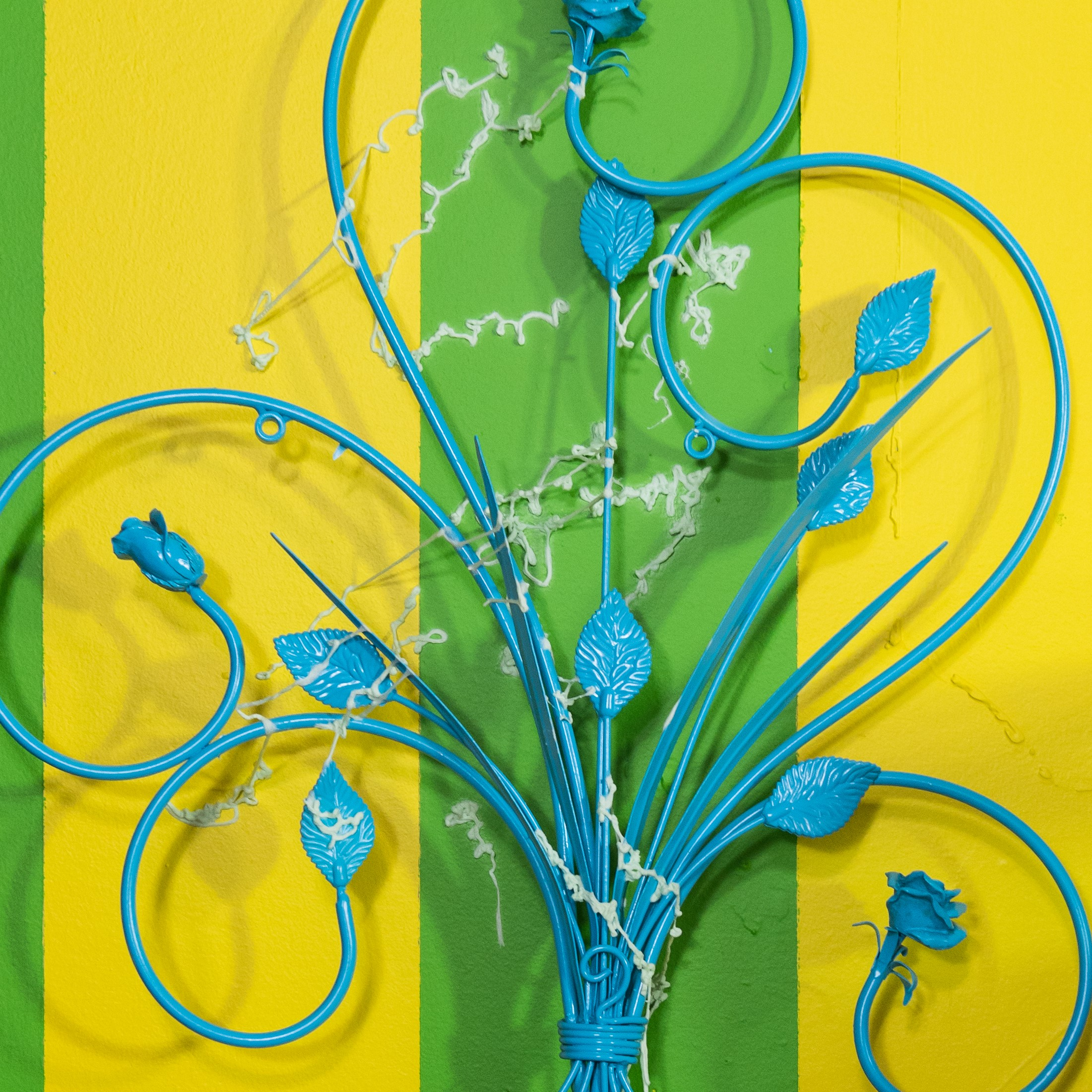 The Blue, Green, and Yellow Room  (detail)  2018  mixed media installation