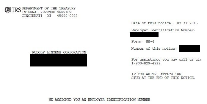 Employer Identification Number (Redacted)   2015  JPG  The Rudolf Lingens Corporation was formed July 31st, 2015 and voluntarily dissolved February 17th, 2016. During its existence it did not produce or transact anything.