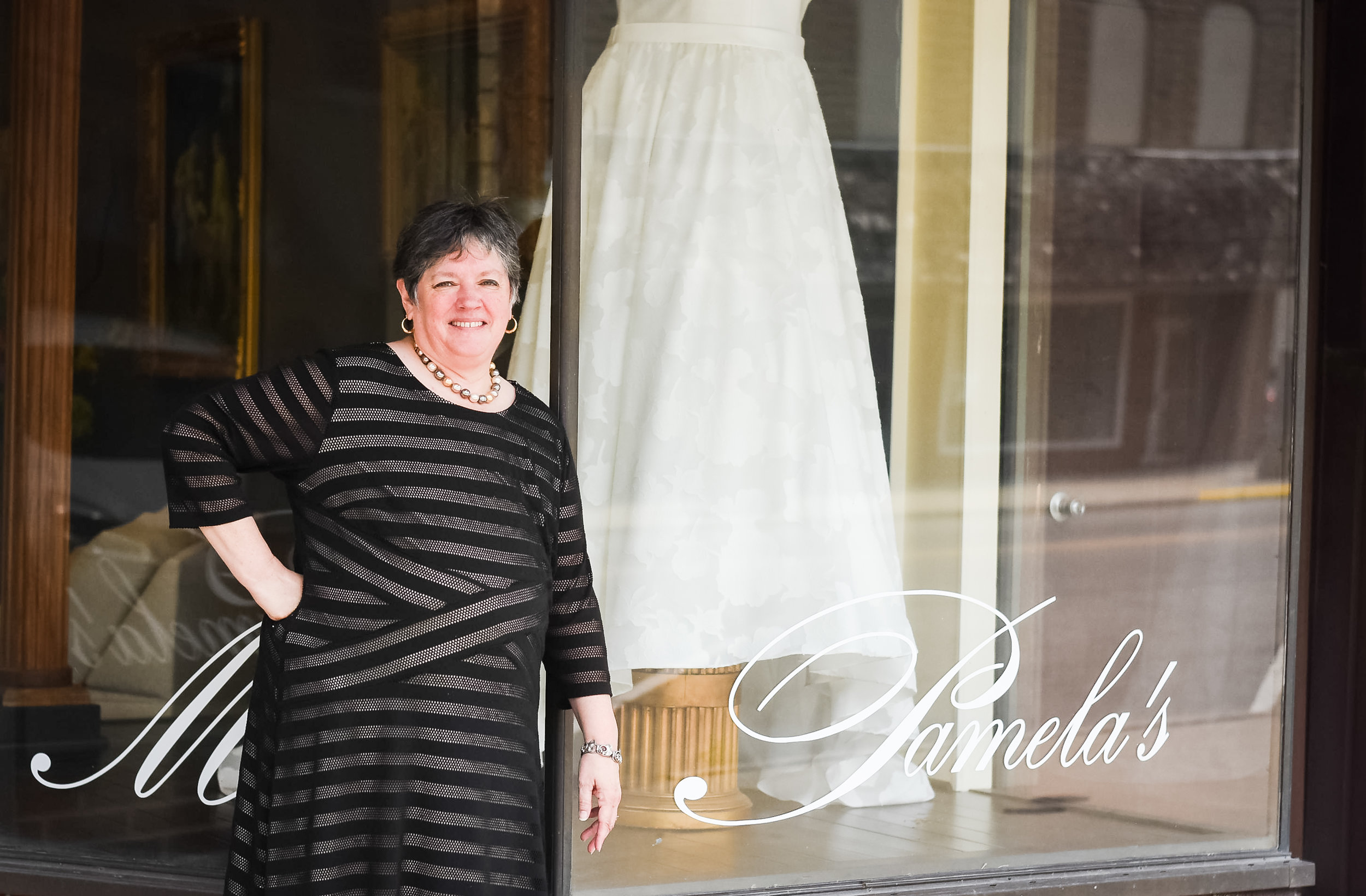 Pamela Inwood, owner, Miss Pamela's – The Plus - Size Bridal Salon