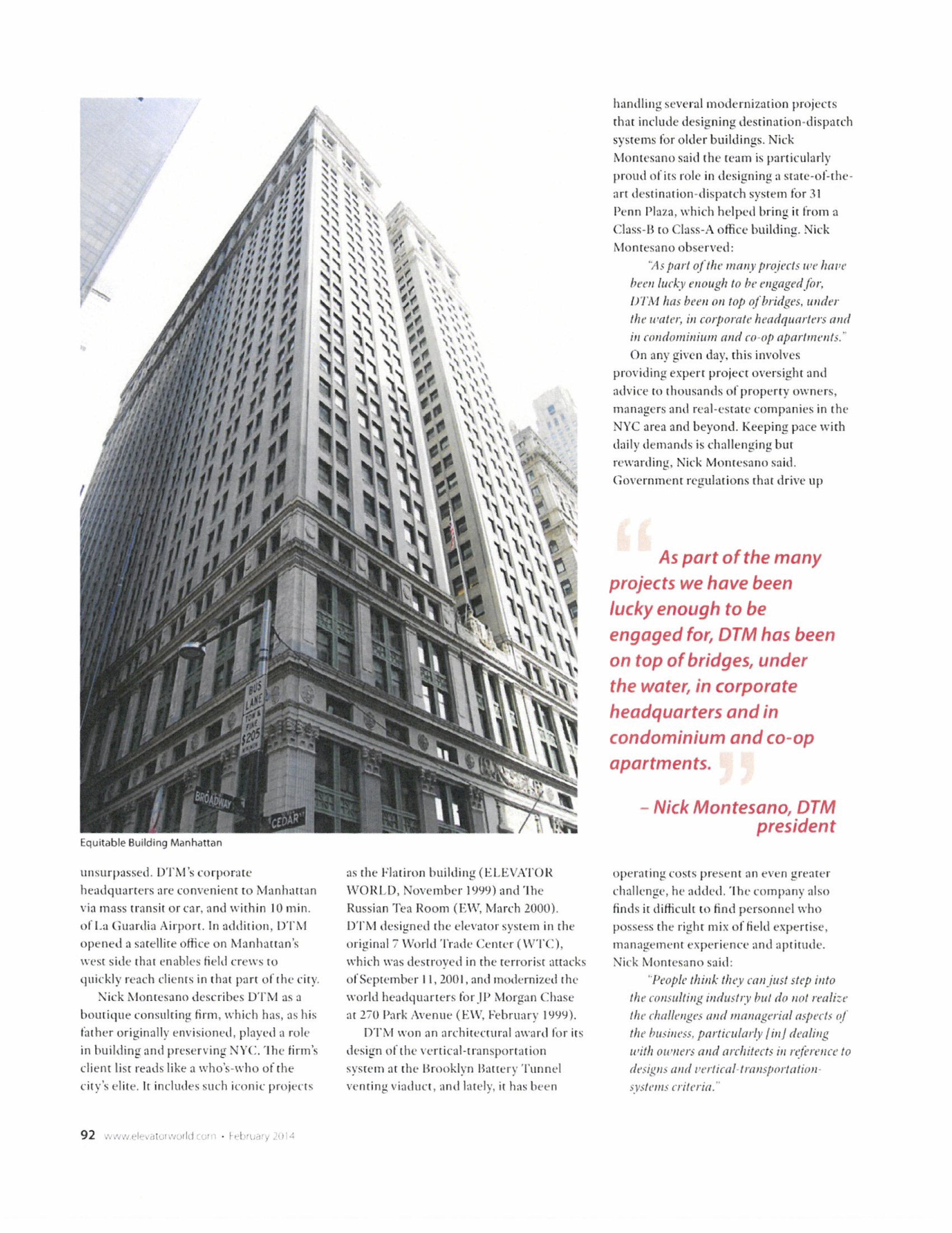 Elevator World Article on DTM 2014 2.jpg