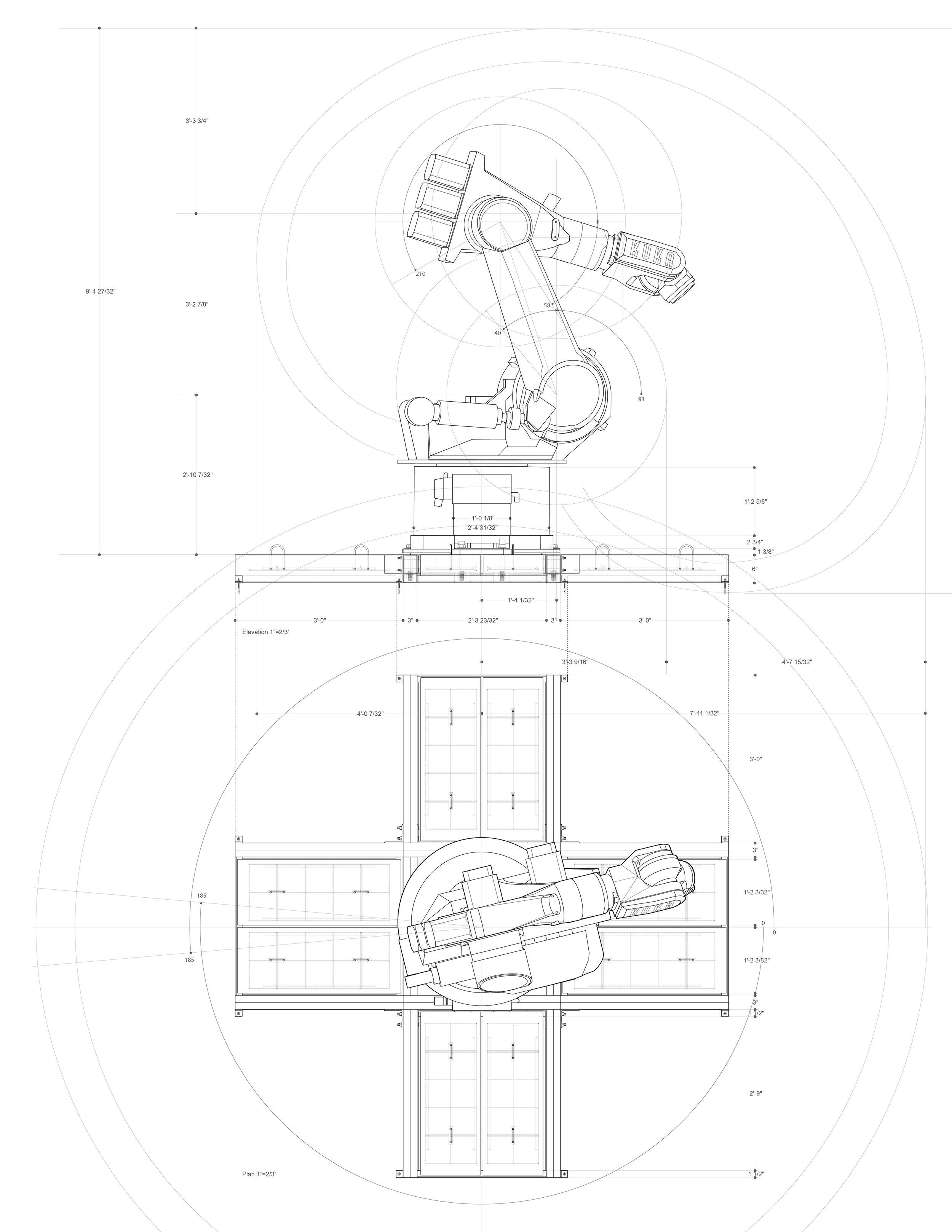 Kuka Kr-200 Elevation/ Plan