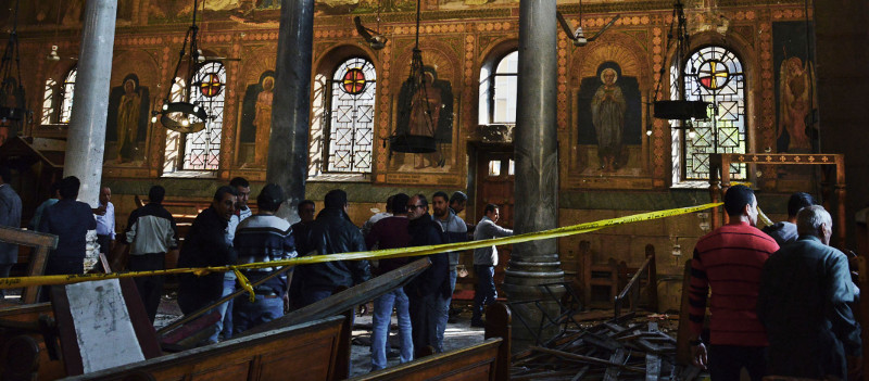 The Aftermath of the Church Bombing at St. Peter's Church (Photo by Jonathan Rashad)