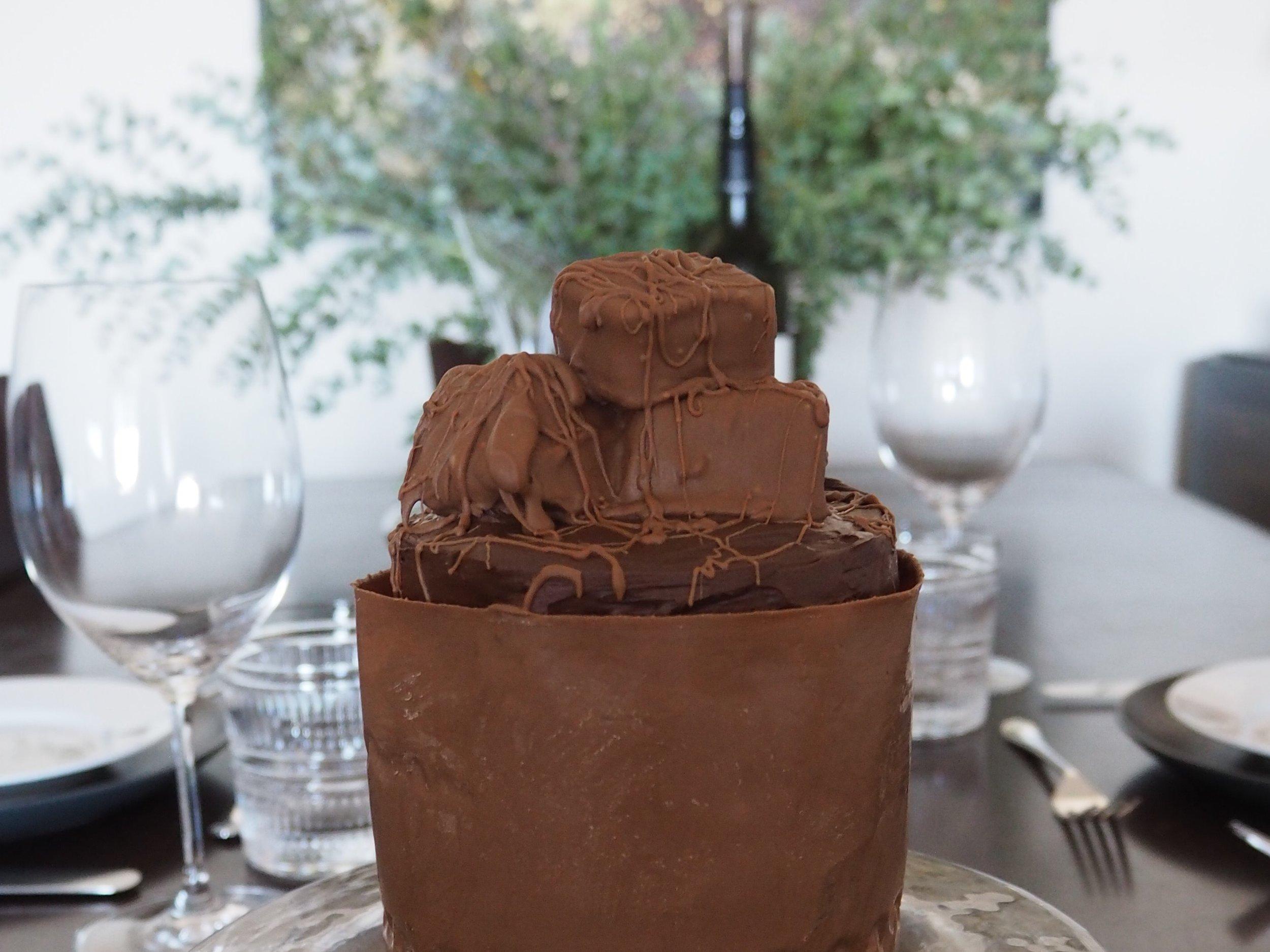 Turkish delight cake up close