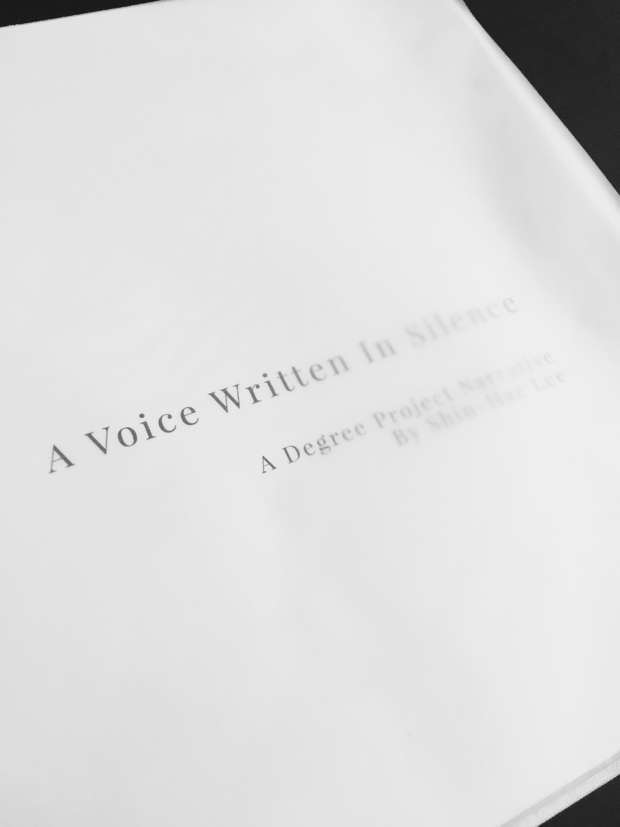 A VOICE written in silence - a degree project on deafness