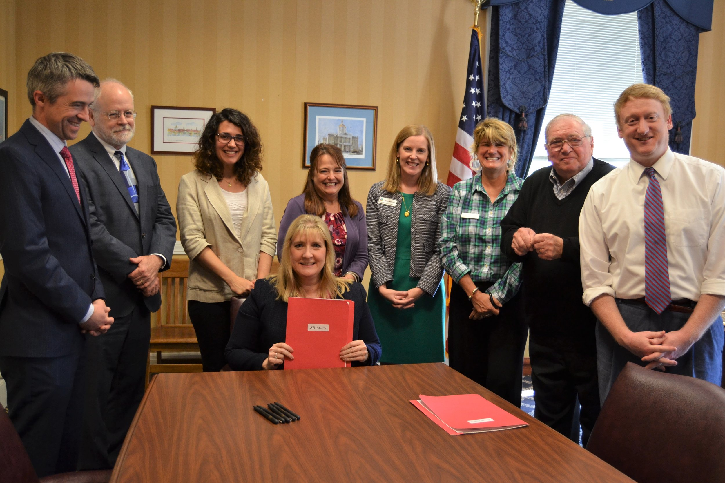 Reach 1 honored to witness the signing of SB 14 into law, by New Hampshire's Senate President, Diane Soucy, June 3, 2019. Great advances made for the welfare of our youth!