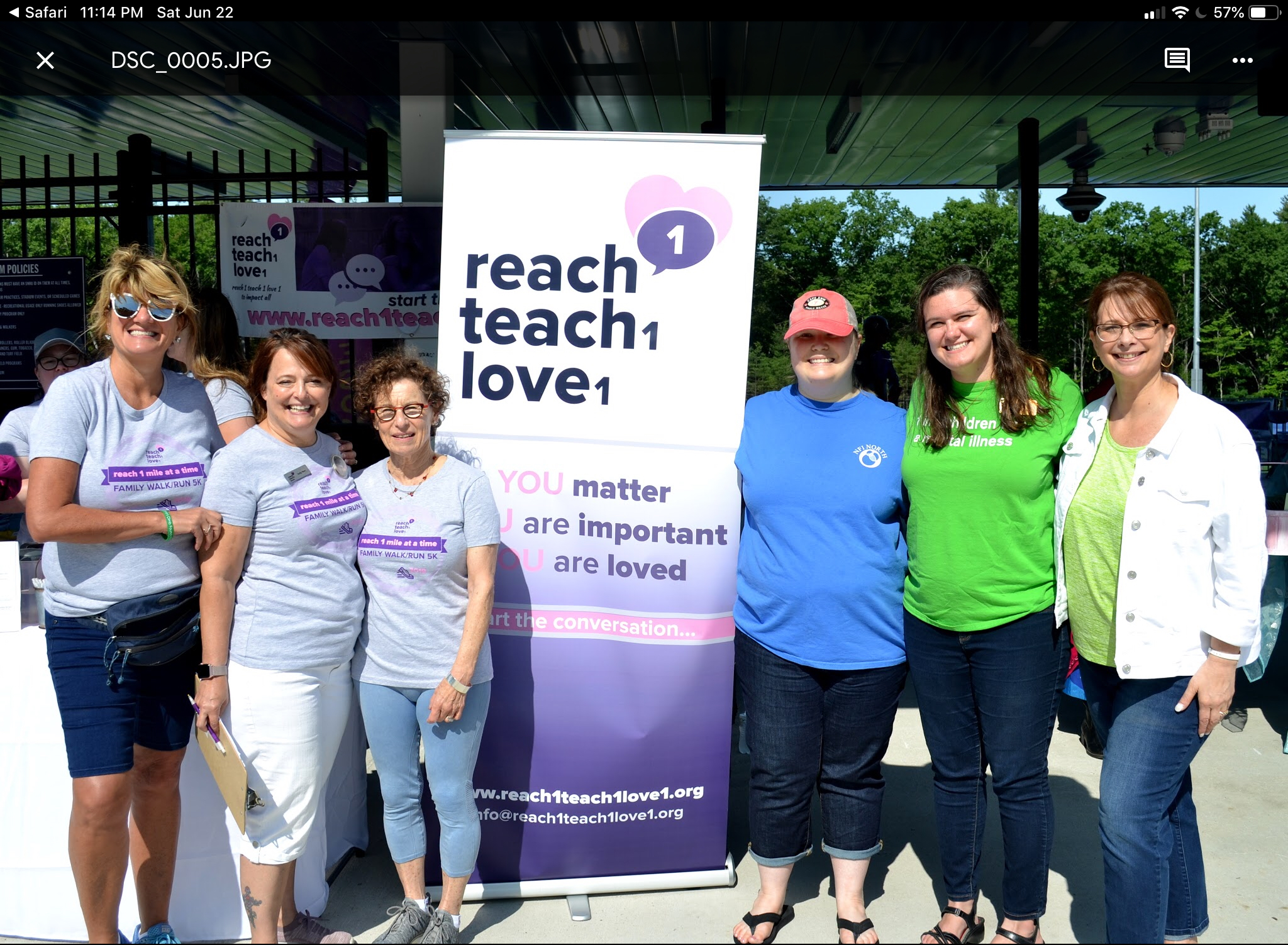 "Members of the Children's Behavioral Health Collaborative teaming together to make ""reach 1 mile at a time 2019"" a success!"
