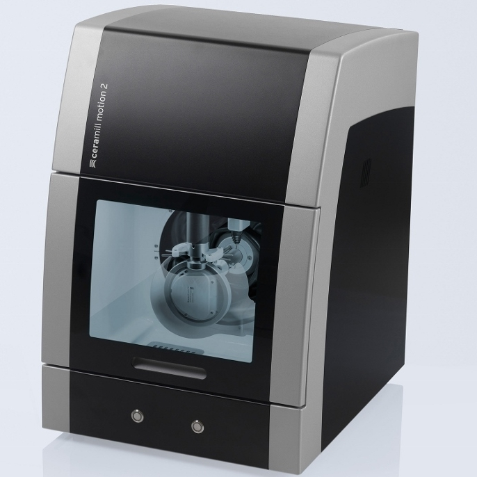 Ceramill Motion 2 - Combines the 5-axis milling technique(wet/dry) with the wet grinding technique in a compact machine. The machine can be used not only as a purely dry or wet system, but can also be operated in the wet and dry combination mode.
