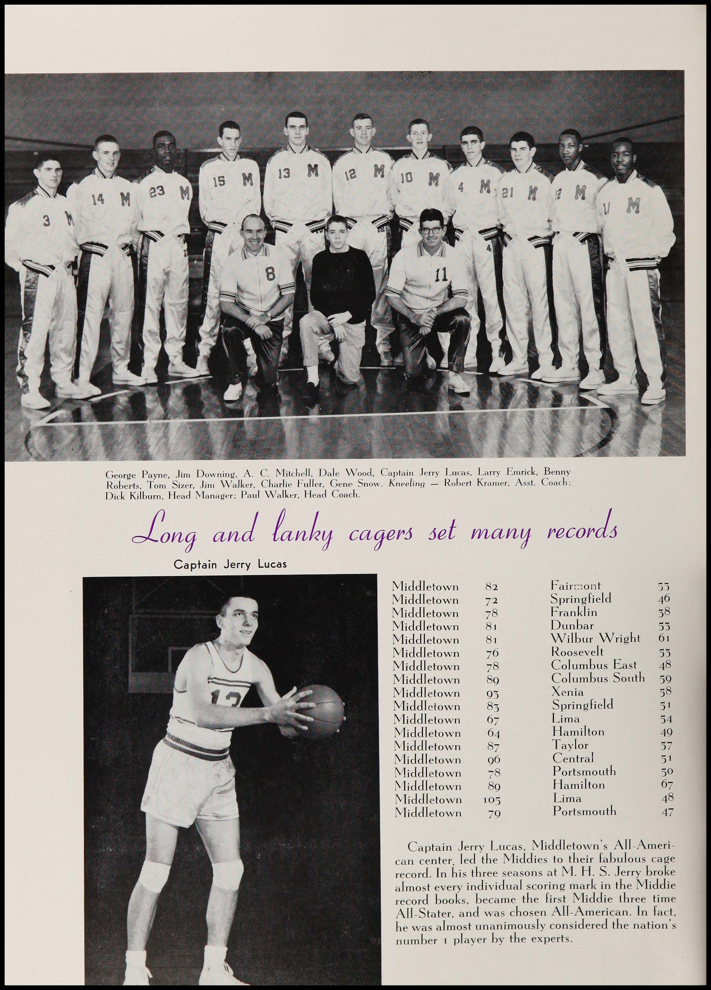 basketball team and jerry lucas photo from 1958 Middletown High School Optimist Yearbook.jpg