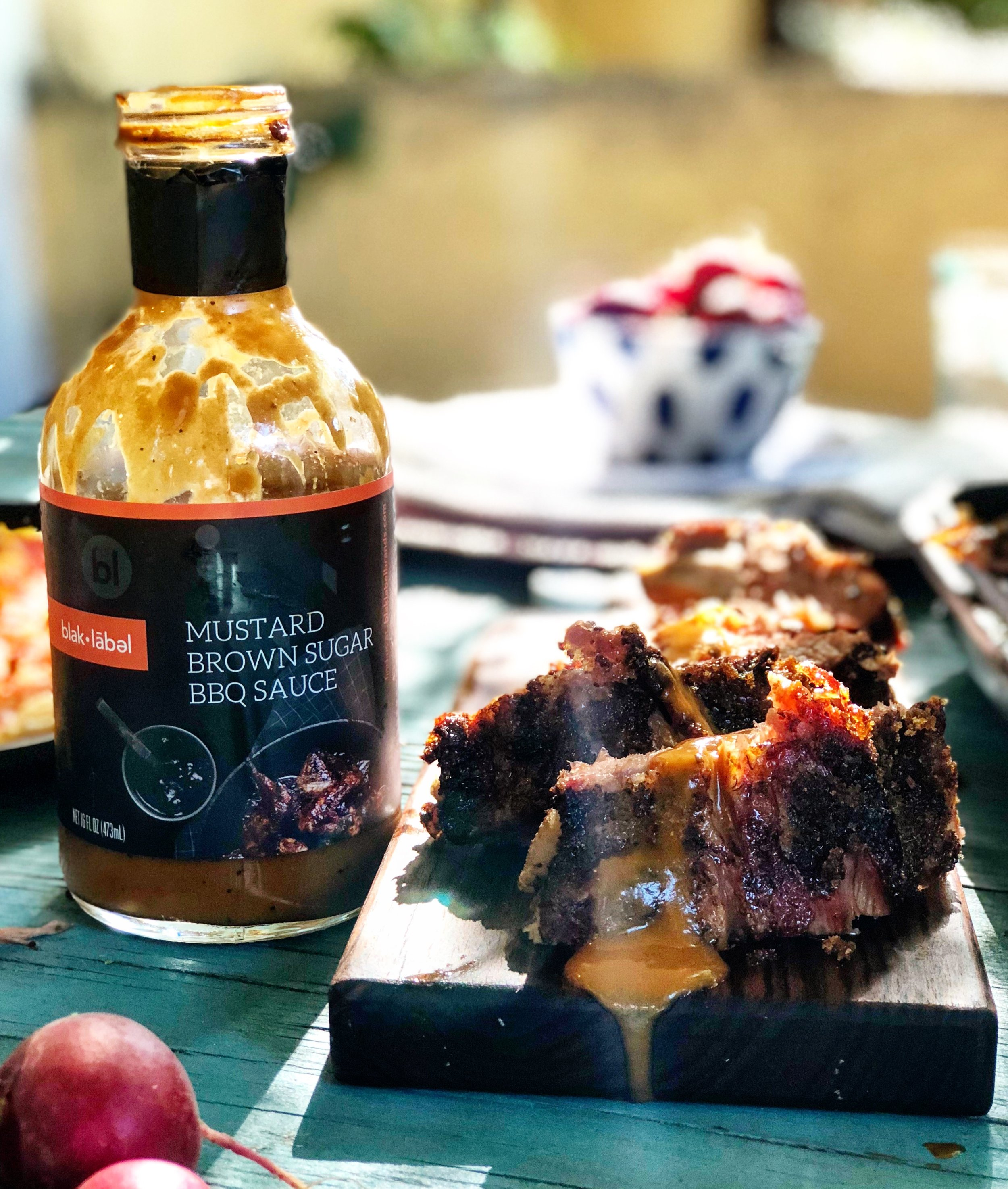 What's that barbecue sauce? Stay tuned for the official launch of our line of sauces, vinegars, oils, and rubs,   blak•label  .