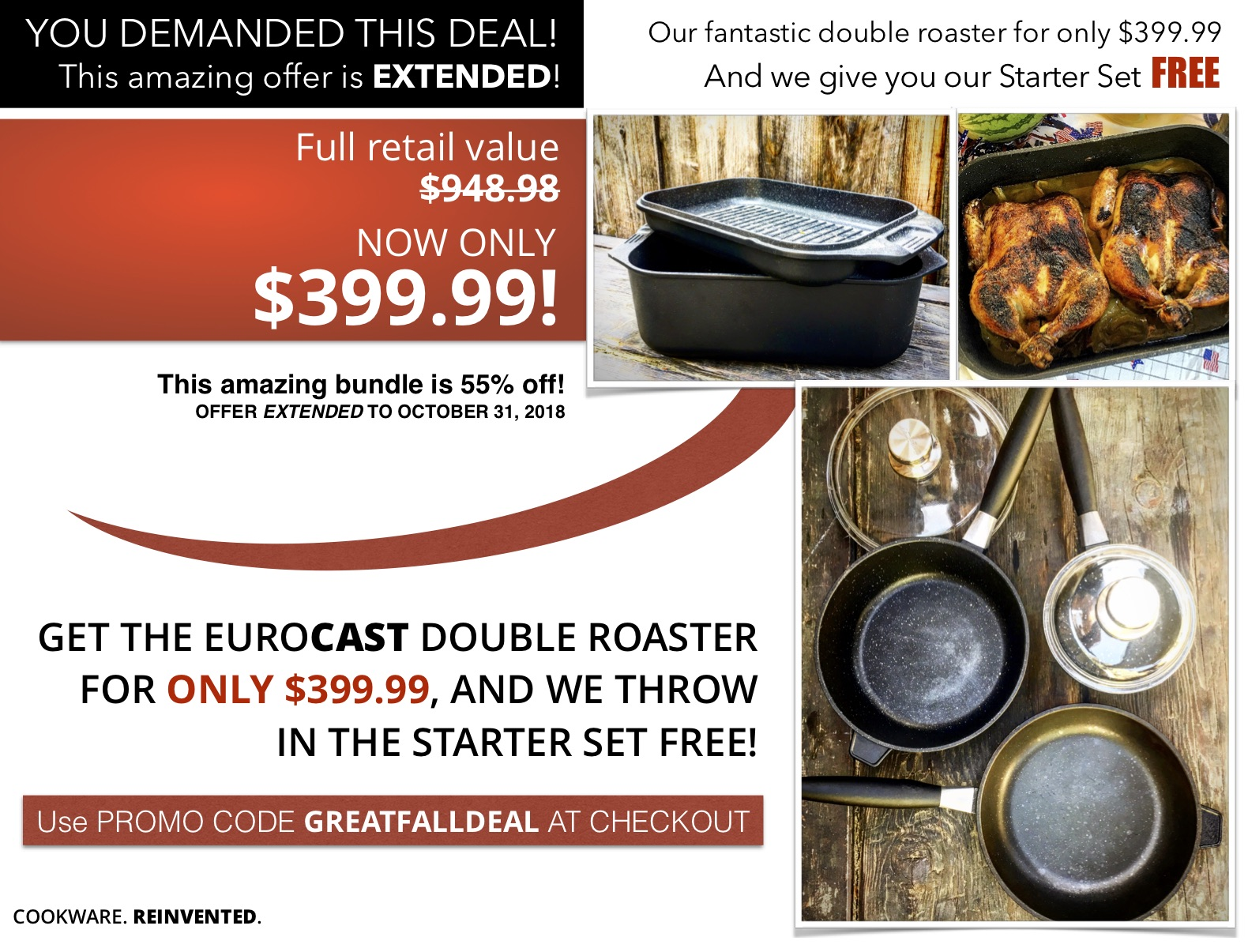 Be sure to use the GREATFALLDEAL promo code when checking out to win your savings!