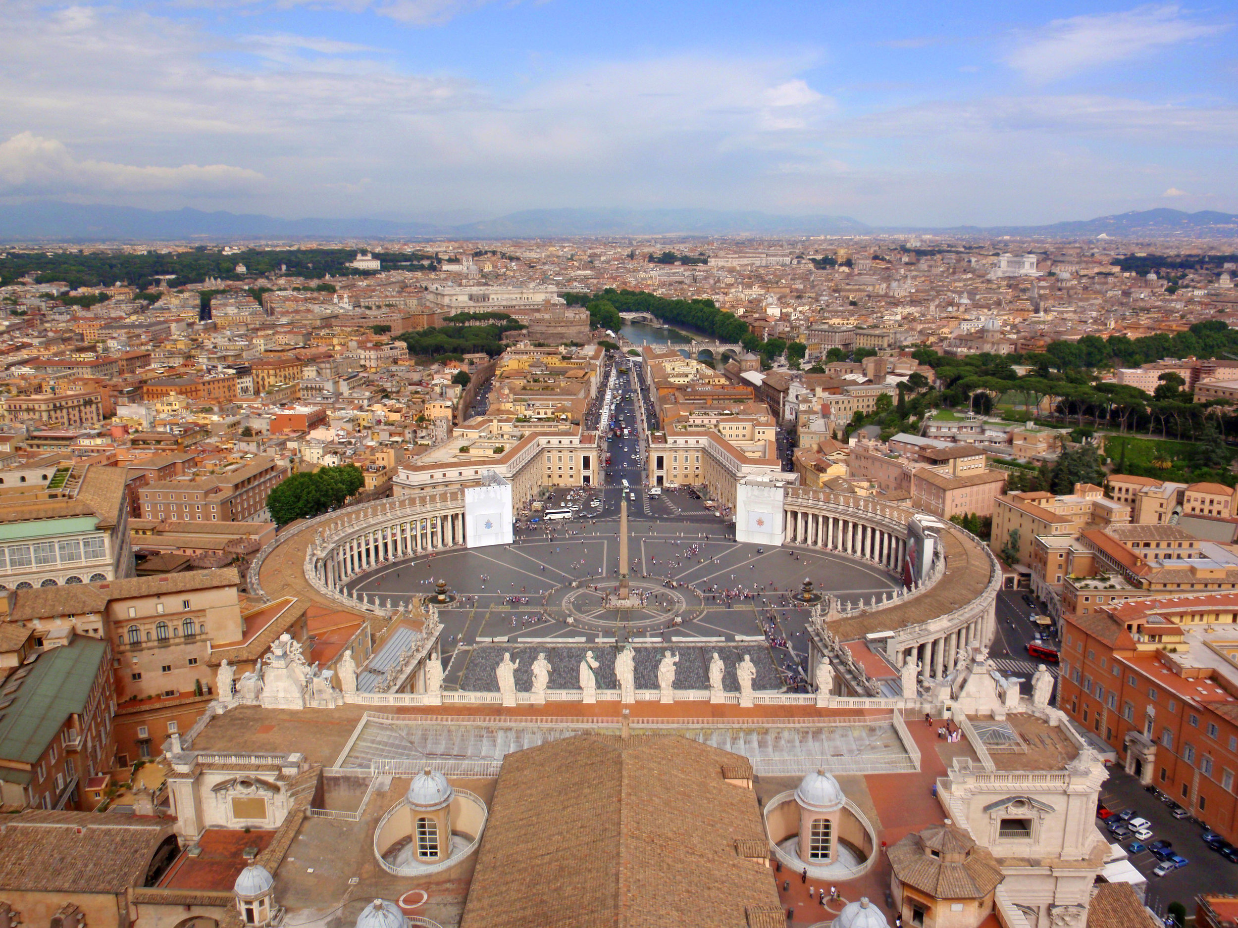 View from St. Peter's Basilica, Vatican City