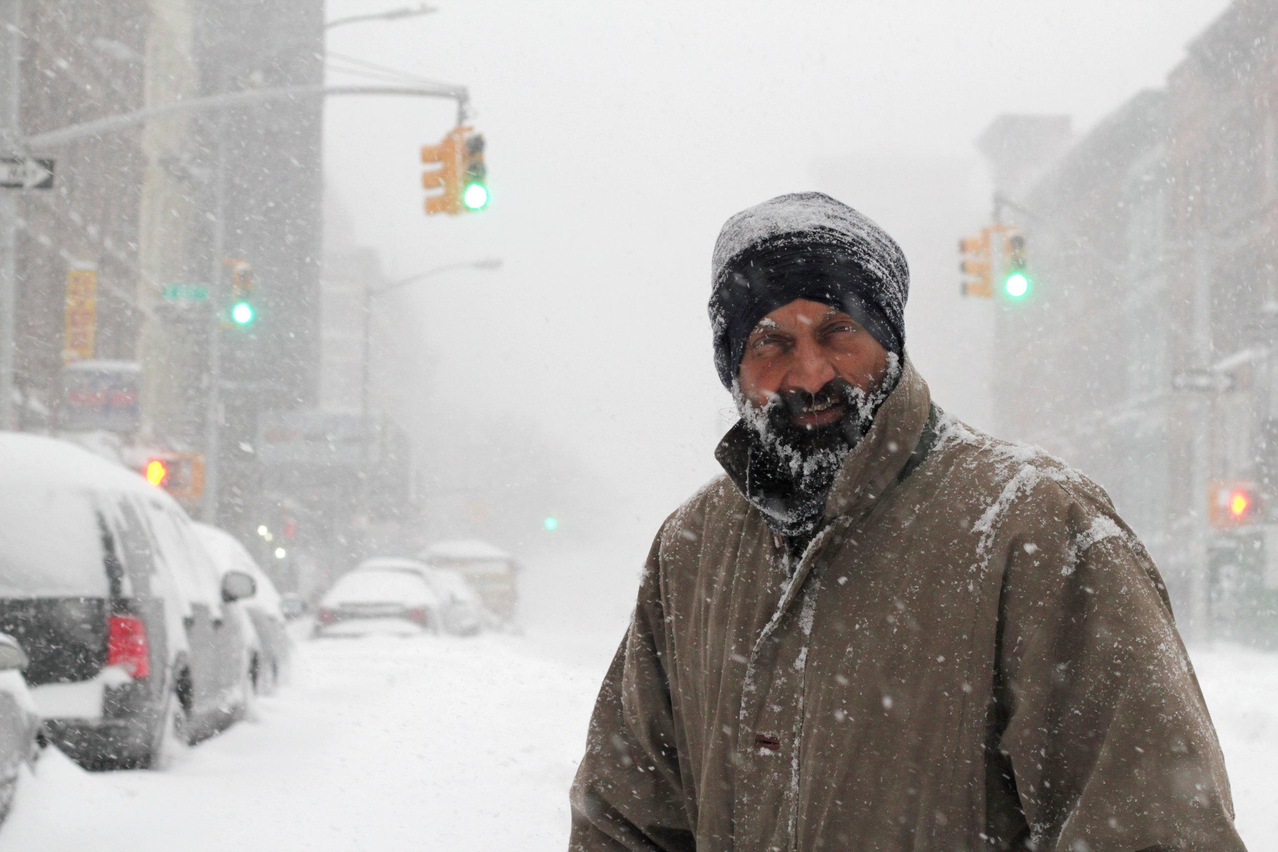 """Looks like I'm in The Revenant."" East Harlem, NY. January 23, 2016"