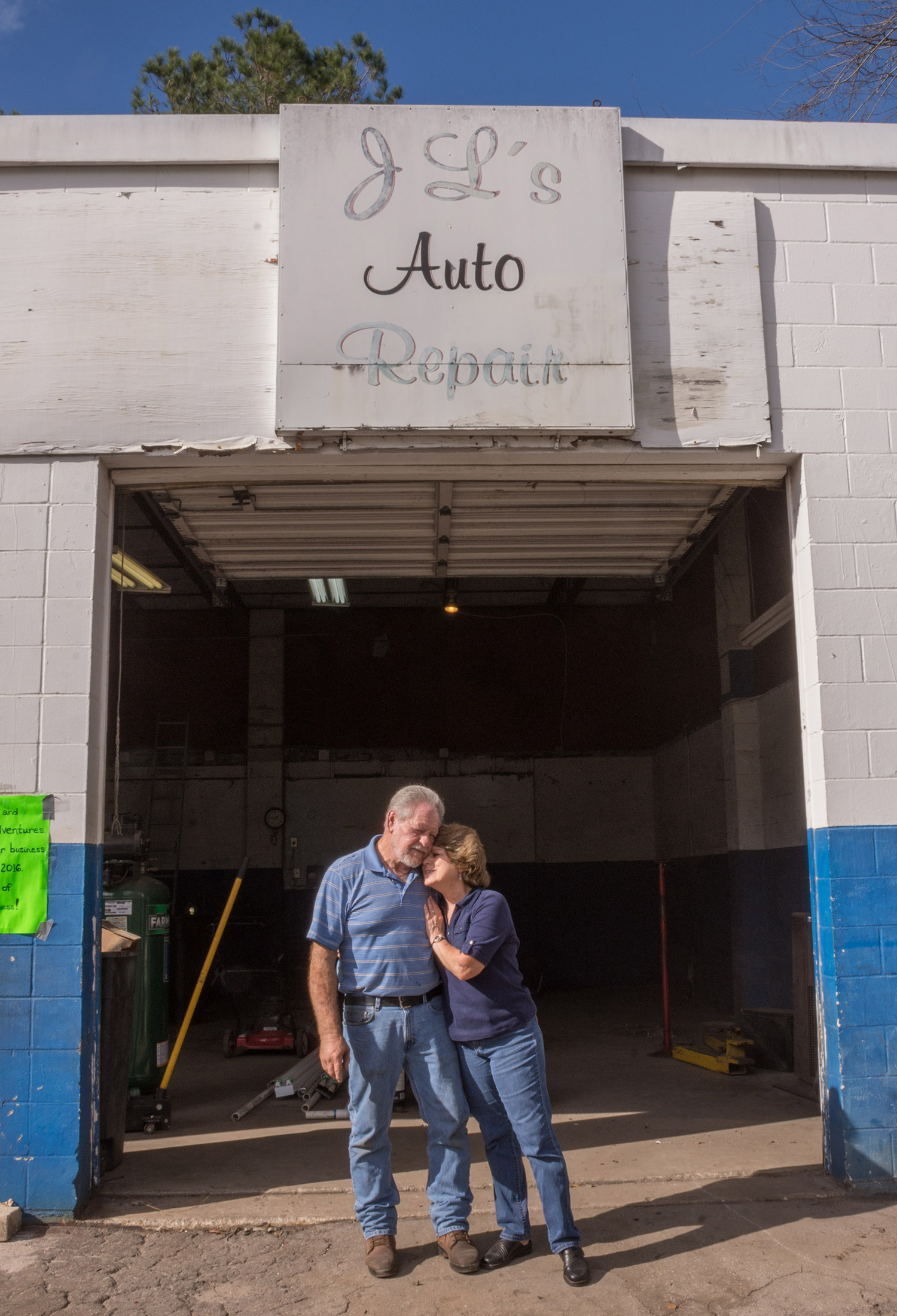 My brother-in-law JL and my sister Judy, saying good-bye to the shop and hello to whatever's next.