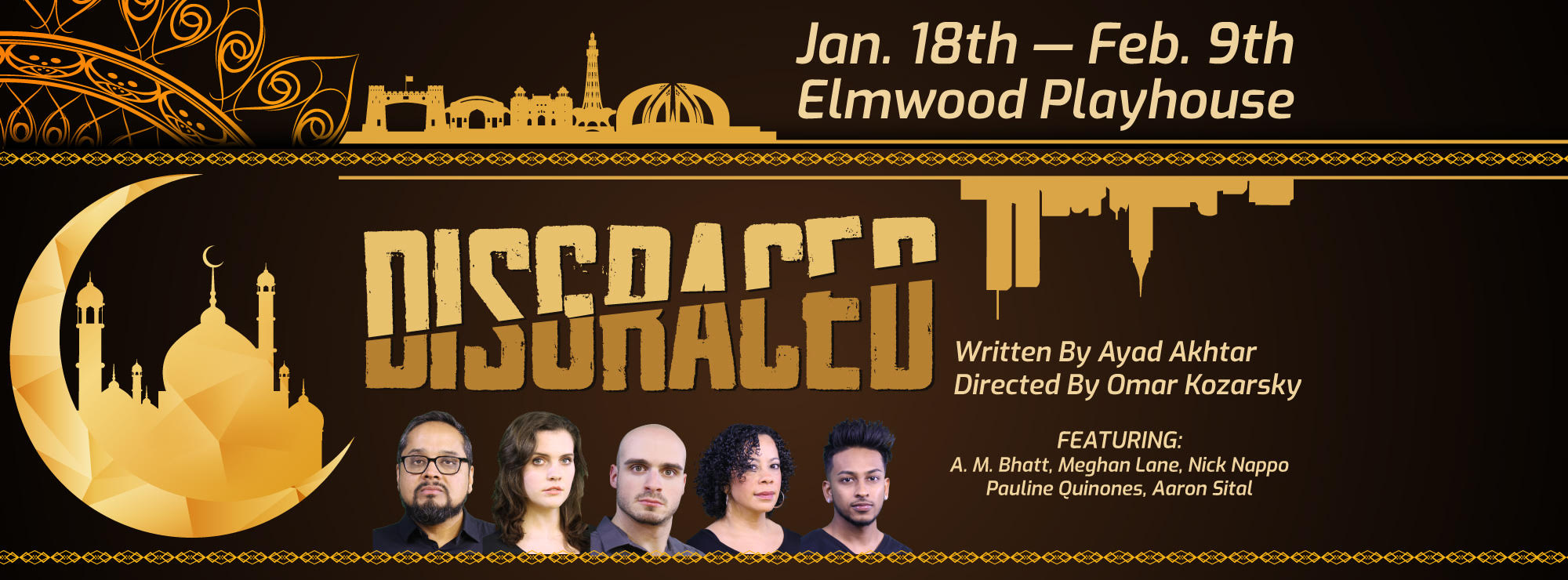 """Starring as Emily in Elmwood Playhouse's production of """"Disgraced"""""""