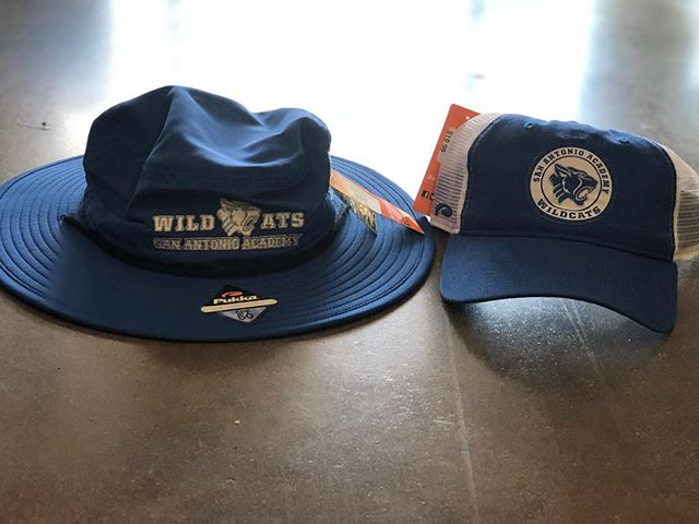 JUST IN! San Antonio Academy hats are ready for you, custom bucket and trucker. #sanantonioacademy #vivrouxsports
