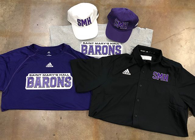 Hey SMH! Looking for something to wear this Friday night? We've got you covered. Stop in and check out our new shirts, hats and stadium chairs. #smhbarons #saintmaryshall