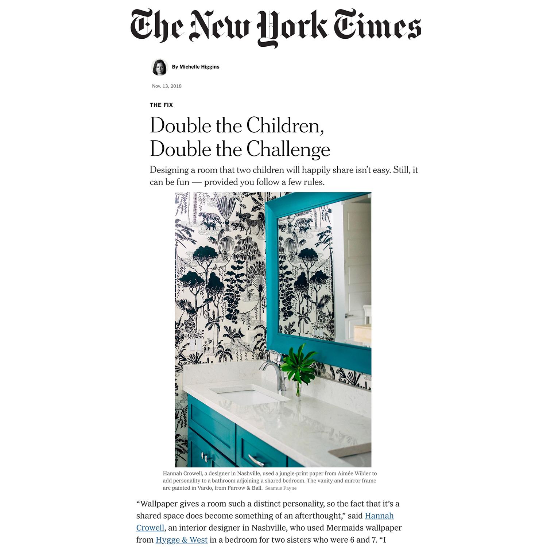 NEW YORK TIMES  November 2018