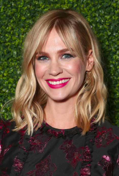 Bronde   See? Even people with lighter hair colors can follow this technique. To add depth to her blonde look. January Jones has a blend of light brown and light blonde streaks throughout her hair.