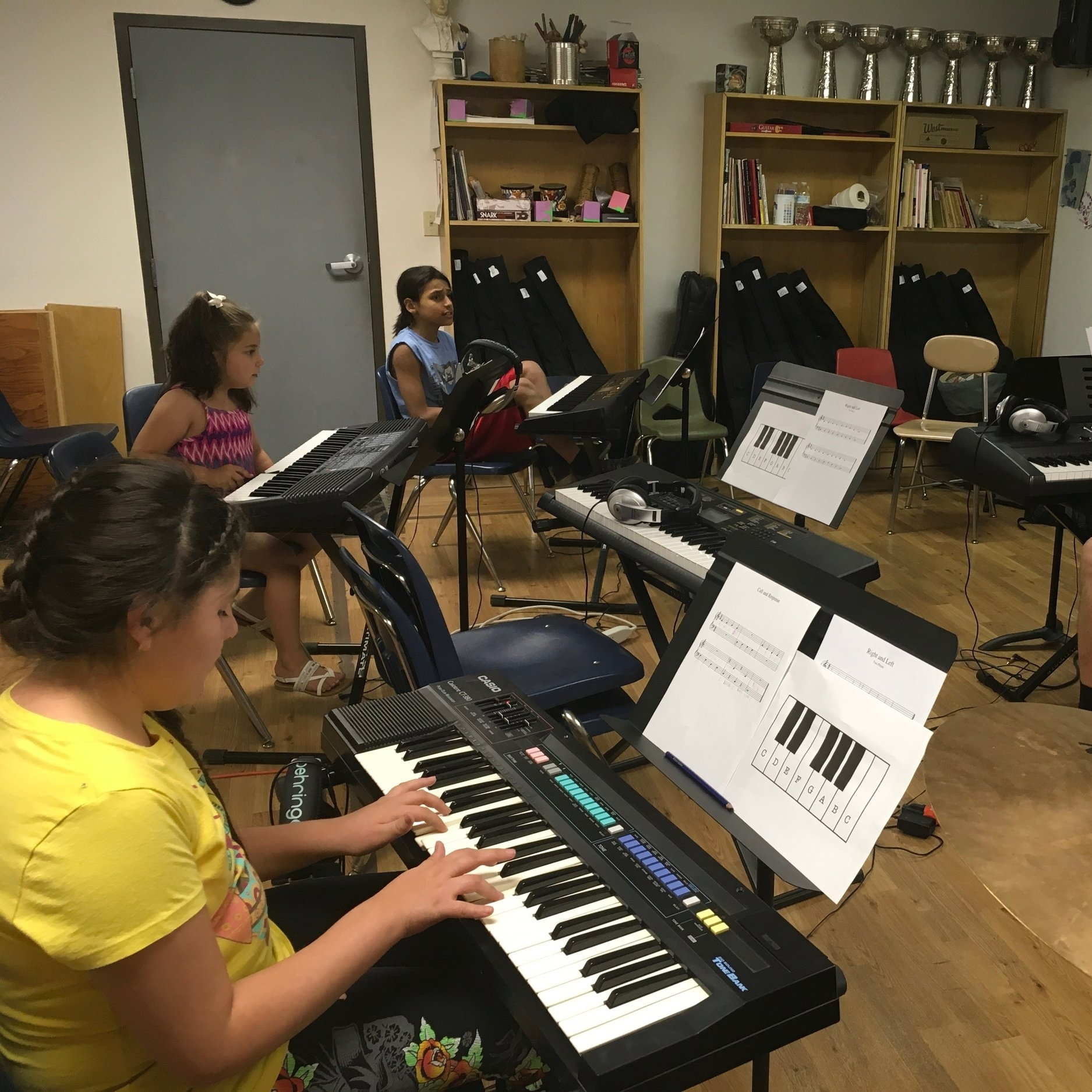 Piano / Keyboard   Instructor: Jesus Montes  Students learn music theory, technique, and improvisation as they practice and perform music in an ensemble class.