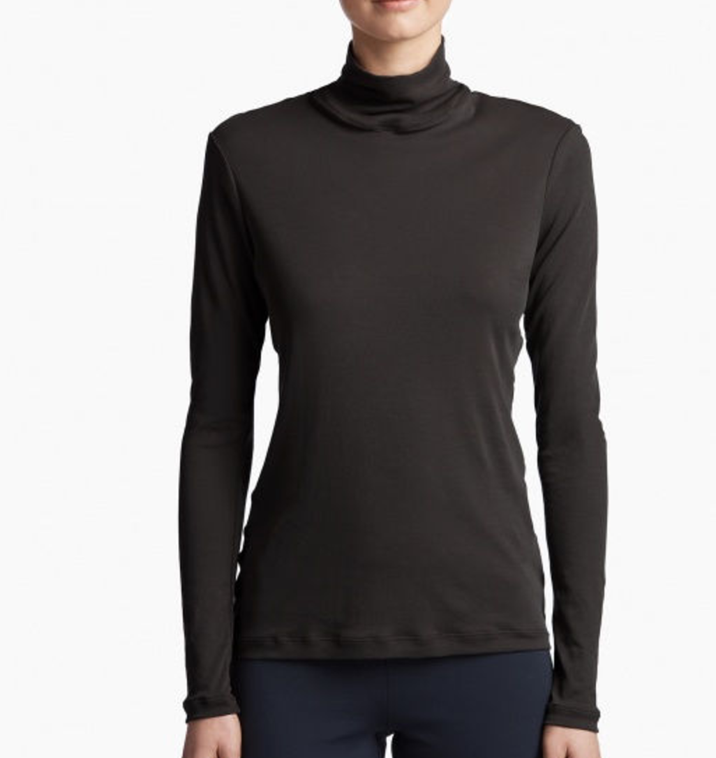 Turtlenecks are a great space saver- roll them up!