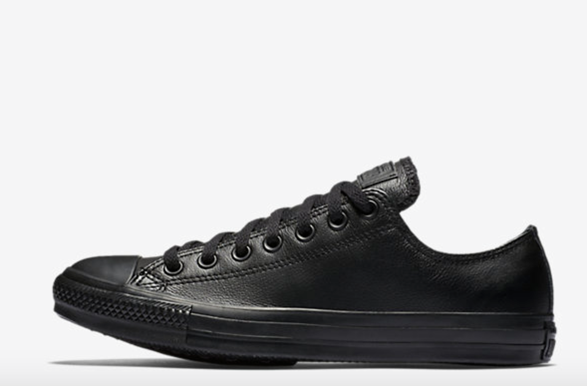 I love my black on black low top converse. I have a little slice of tomboy in me, so they work. Plus, they are super comfortable!