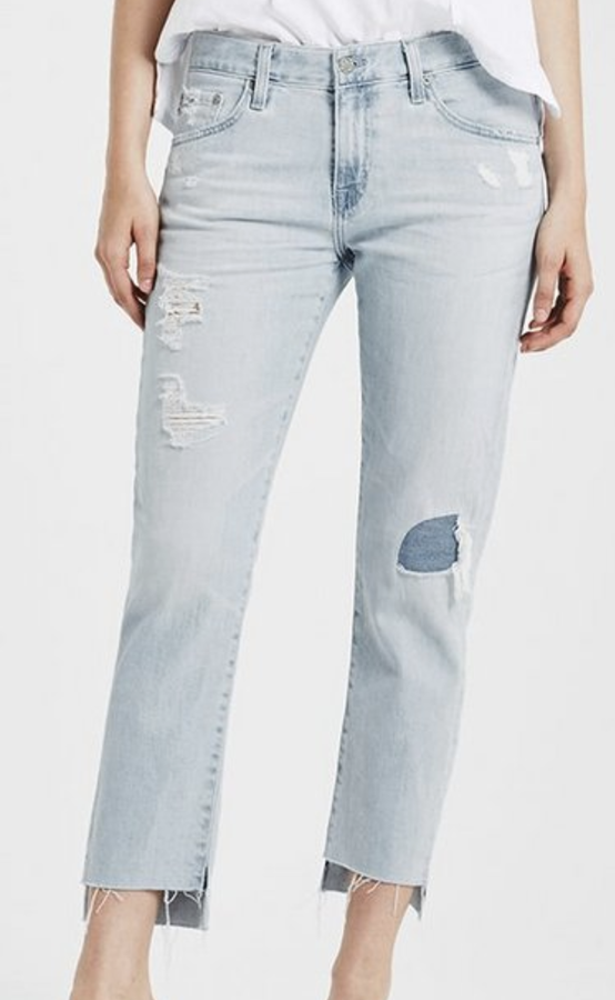 I take two pairs of jeans with me on most trips. Light and dark. I love these AG cropped jeans!